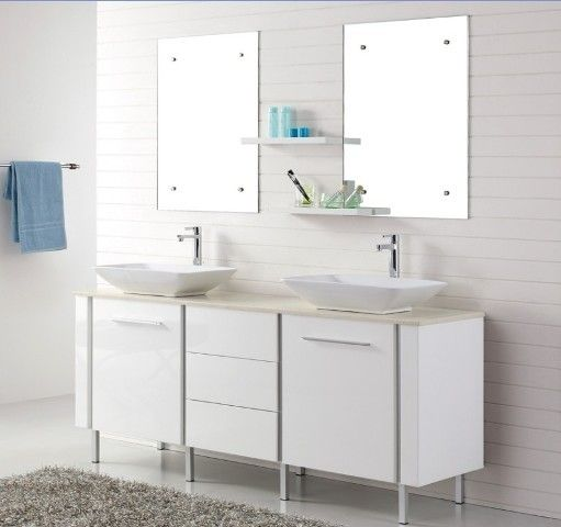 Catalan 1800 Freestanding White Vanity with Blum Soft Closing Drawers for Large Bathroom