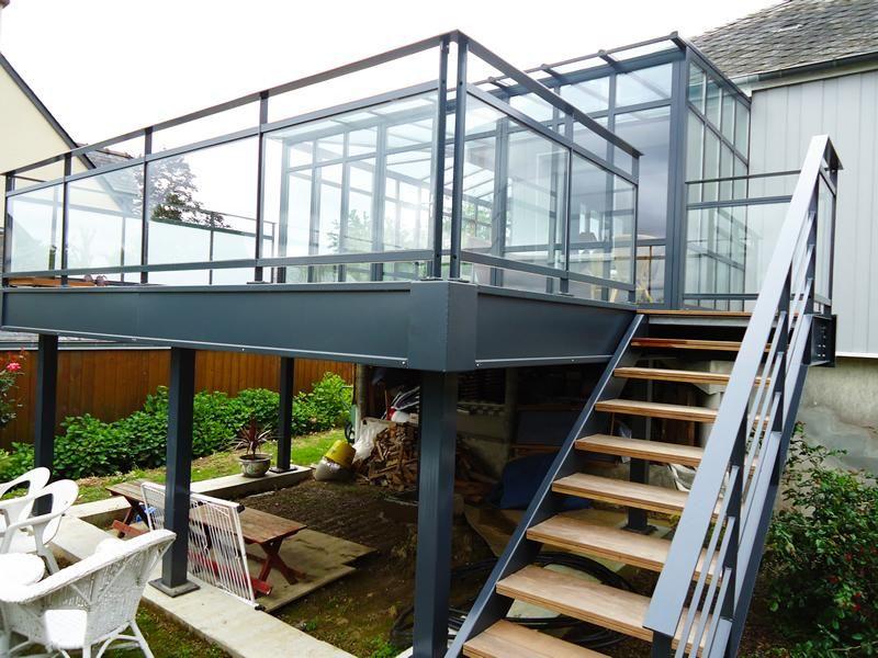 Pin by Yildiray Ceyhan on Balkon Pinterest Steel stairs - terrasse sur pilotis metal