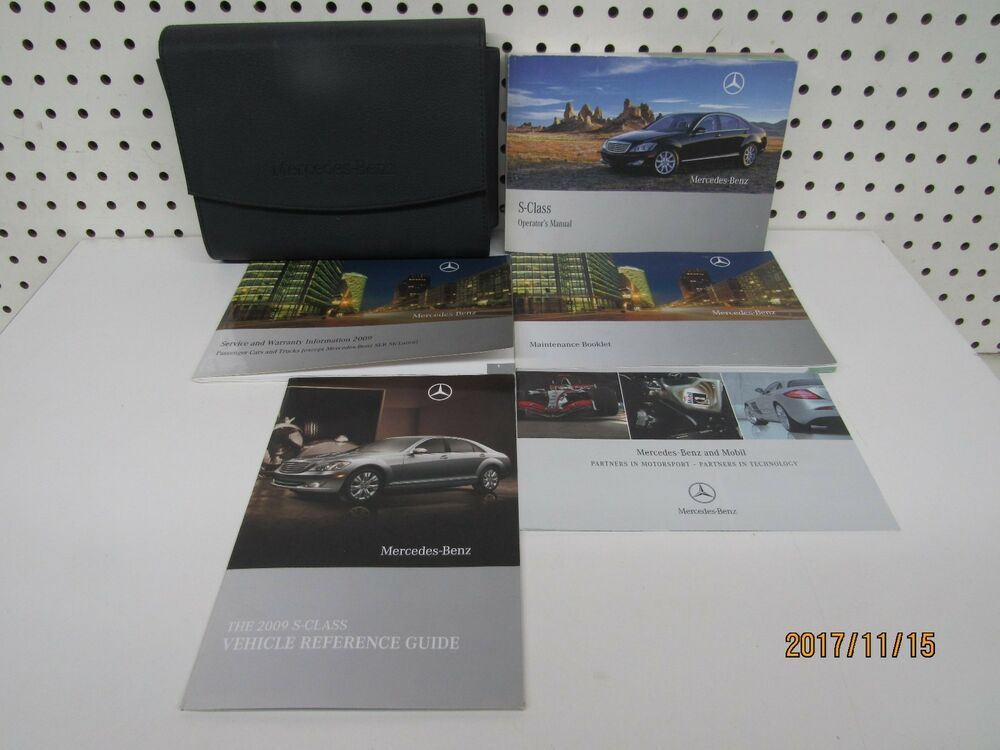 2009 Mercedes Benz S Class Owners Manual Set Free Shipping Mercedes Benz Benz S Class Benz S