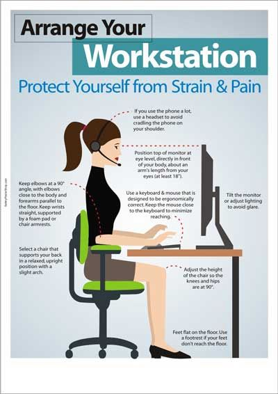 computer ergonomics in the work place Prolonged use of a computer keyboard and/or mouse can lead to frequent   alternate tasks to make changes in your working position to avoid making the  same.