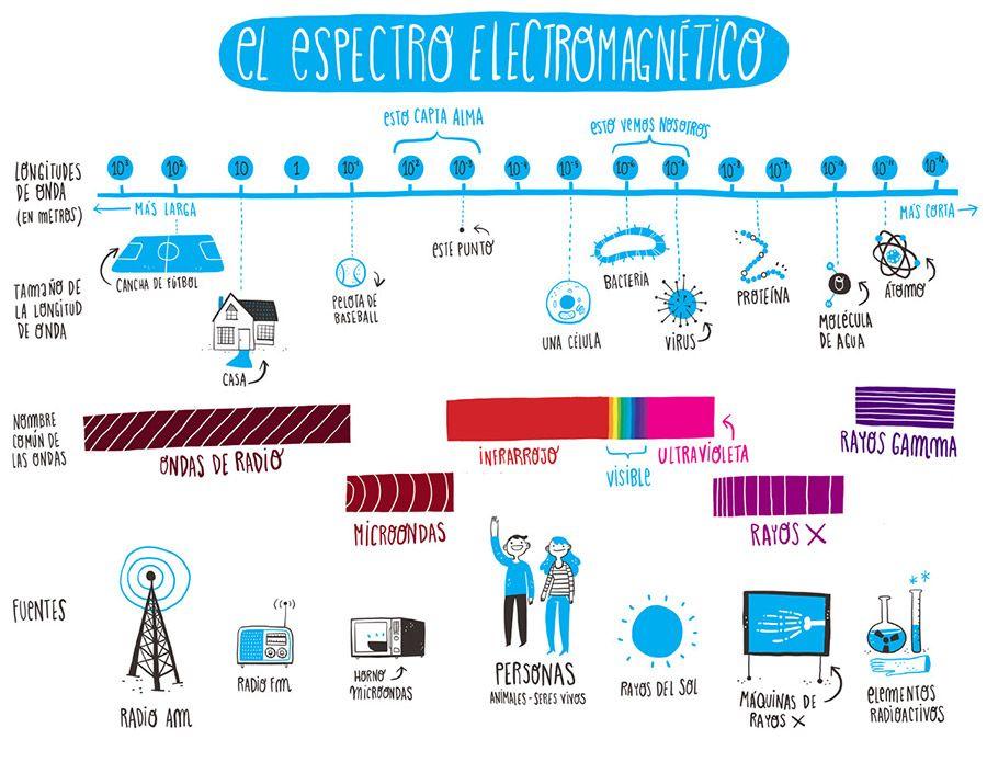 Alma El Espectro Electromagnetico Para Ninos Espectro Electromagnetico Espectros Marketing De Guerrilla
