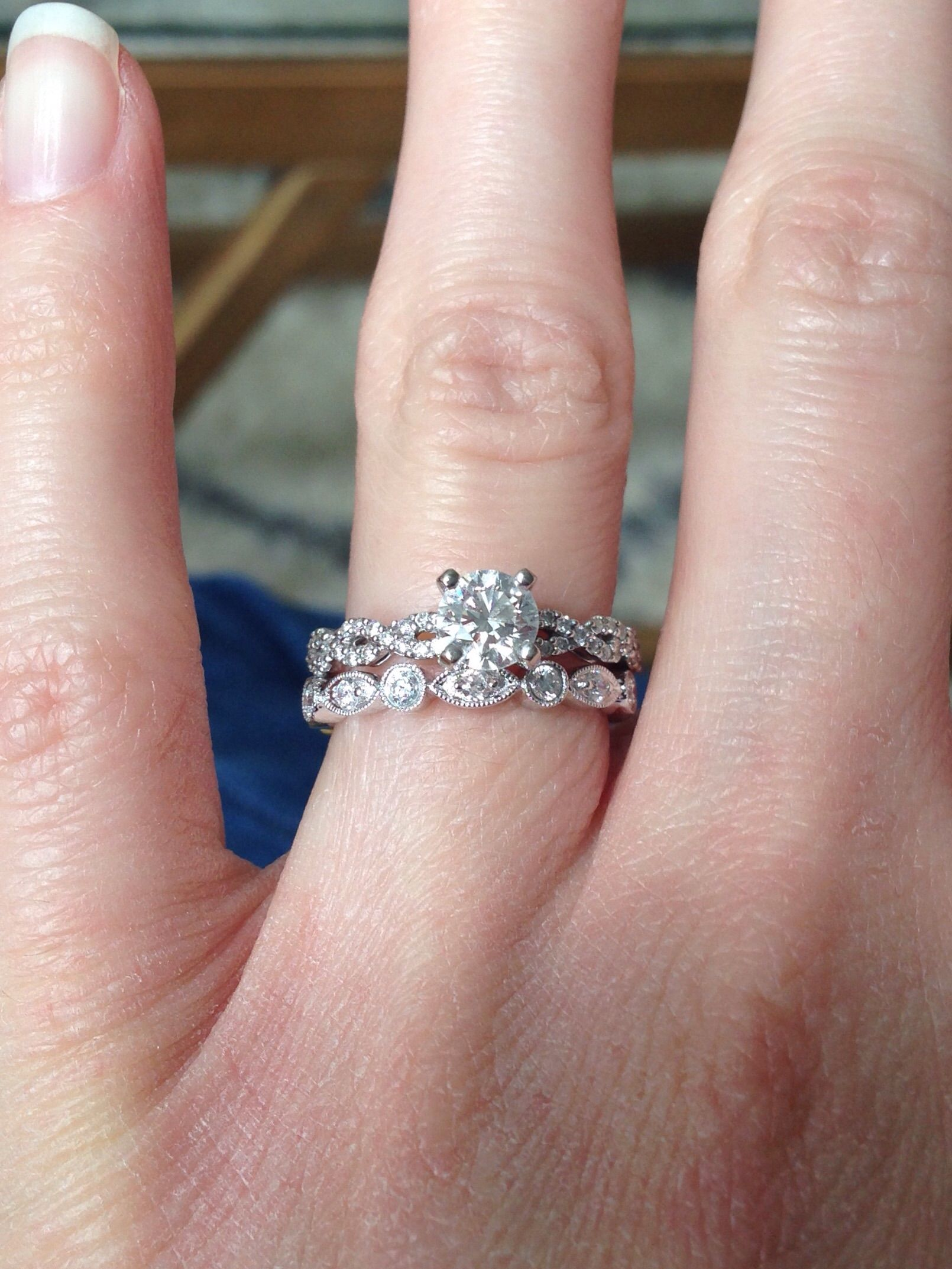 Show me your mismatched ring sets — pic HEAVY - Weddingbee | Page 10 ...