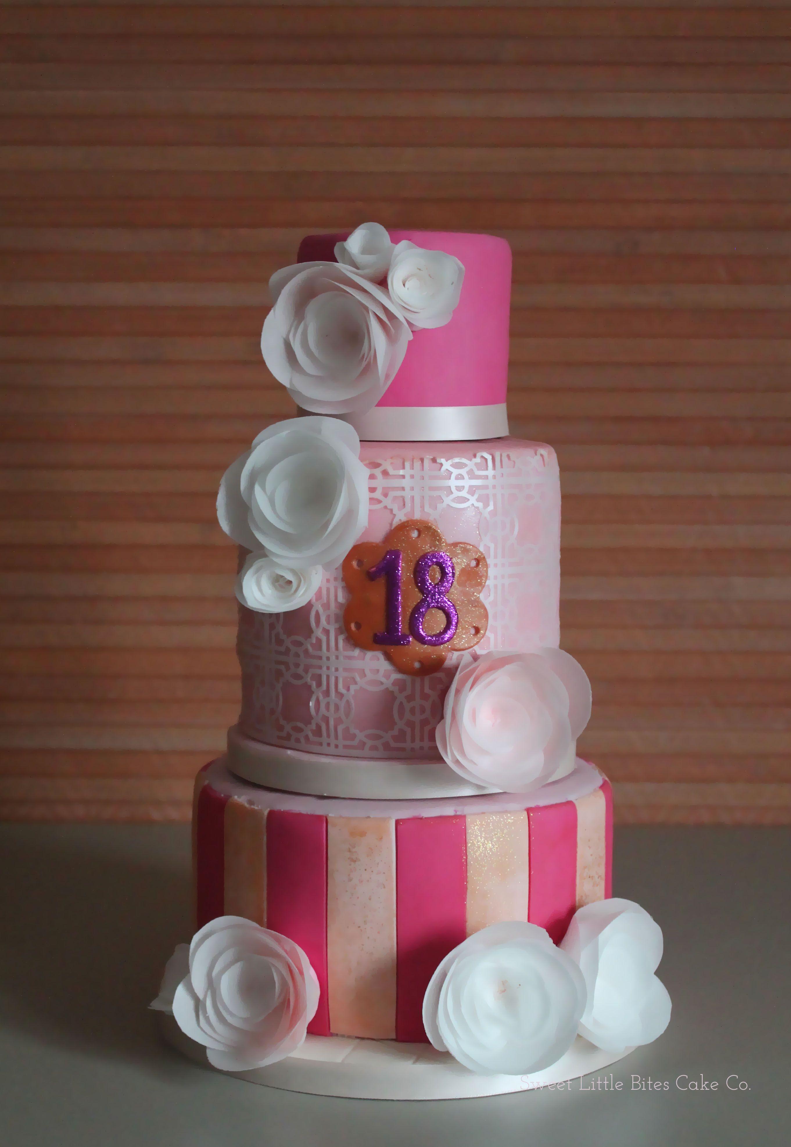 18th Birthday Party Cake Birthdaycake Sweetlittlebites Little Bites