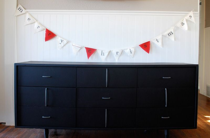 christmas pennant tutorial - Sweet Muffin Suite