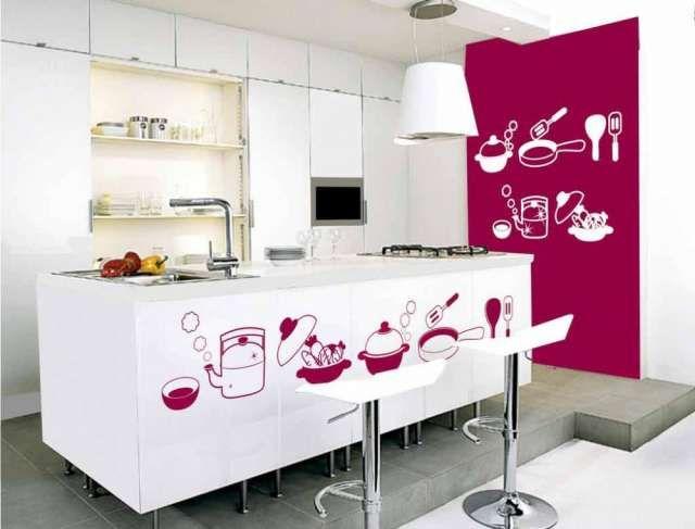 cocina-decorada-con-vinilos | Los adhesivos estan de ultima ...