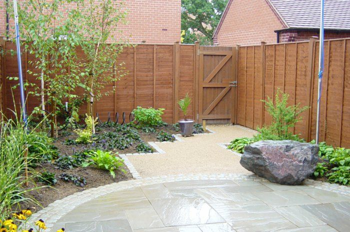 gartenideen für kleine gärten pflanzen steine | garten | Pinterest