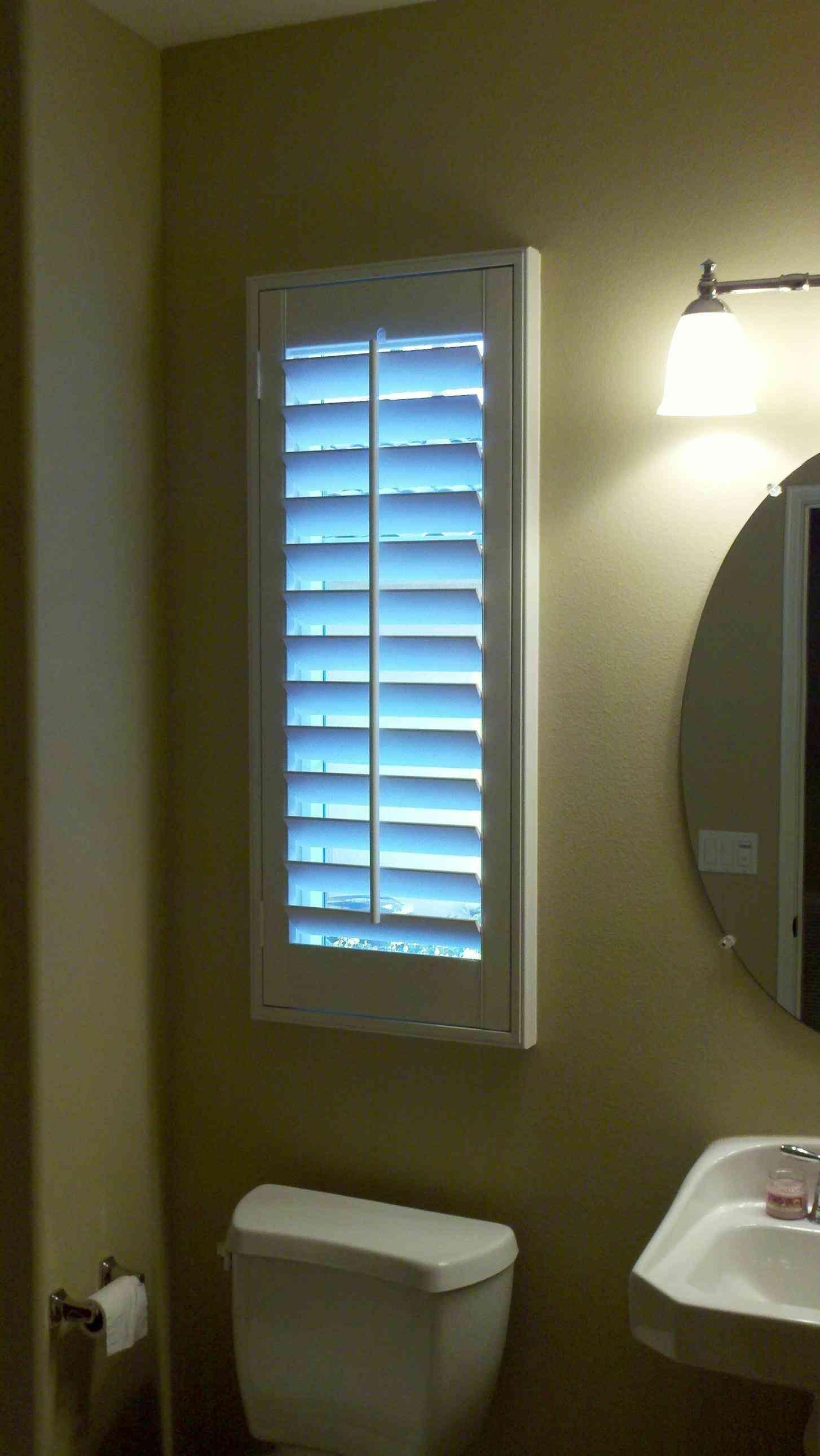 Bon New Post Blinds For Small Bathroom Windows