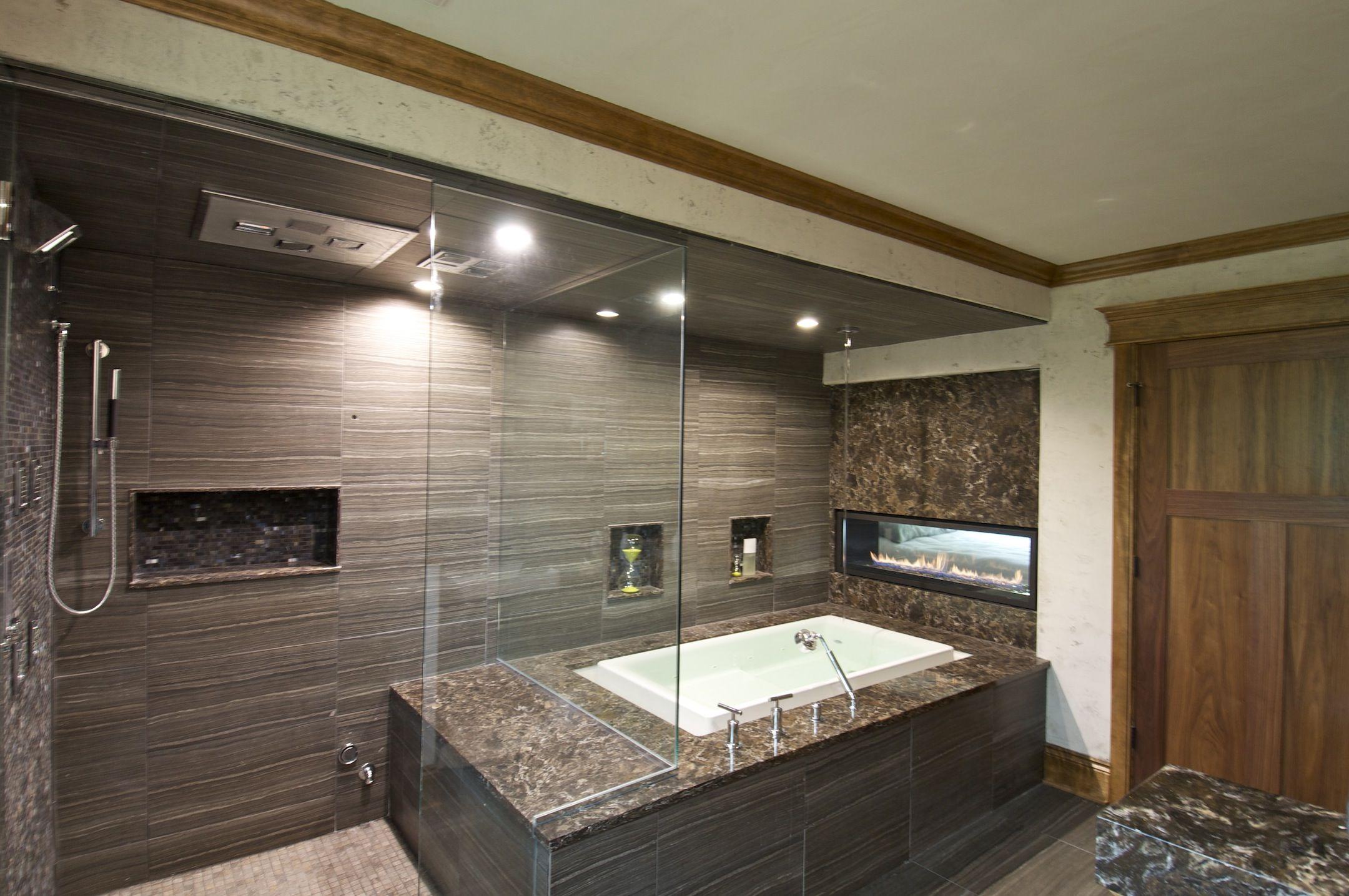 Dream Bathroom Design With Tile Granite Shower Soaker Tub And Gas - Bathroom design minneapolis