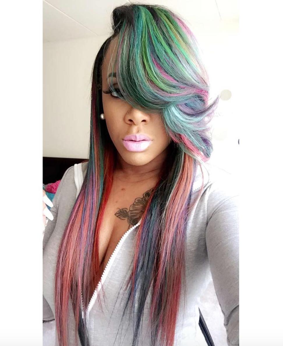 Image gallery mermaid hair - Mermaid Colors Brooklyn_cosmo Http Community Blackhairinformation Com Hairstyle