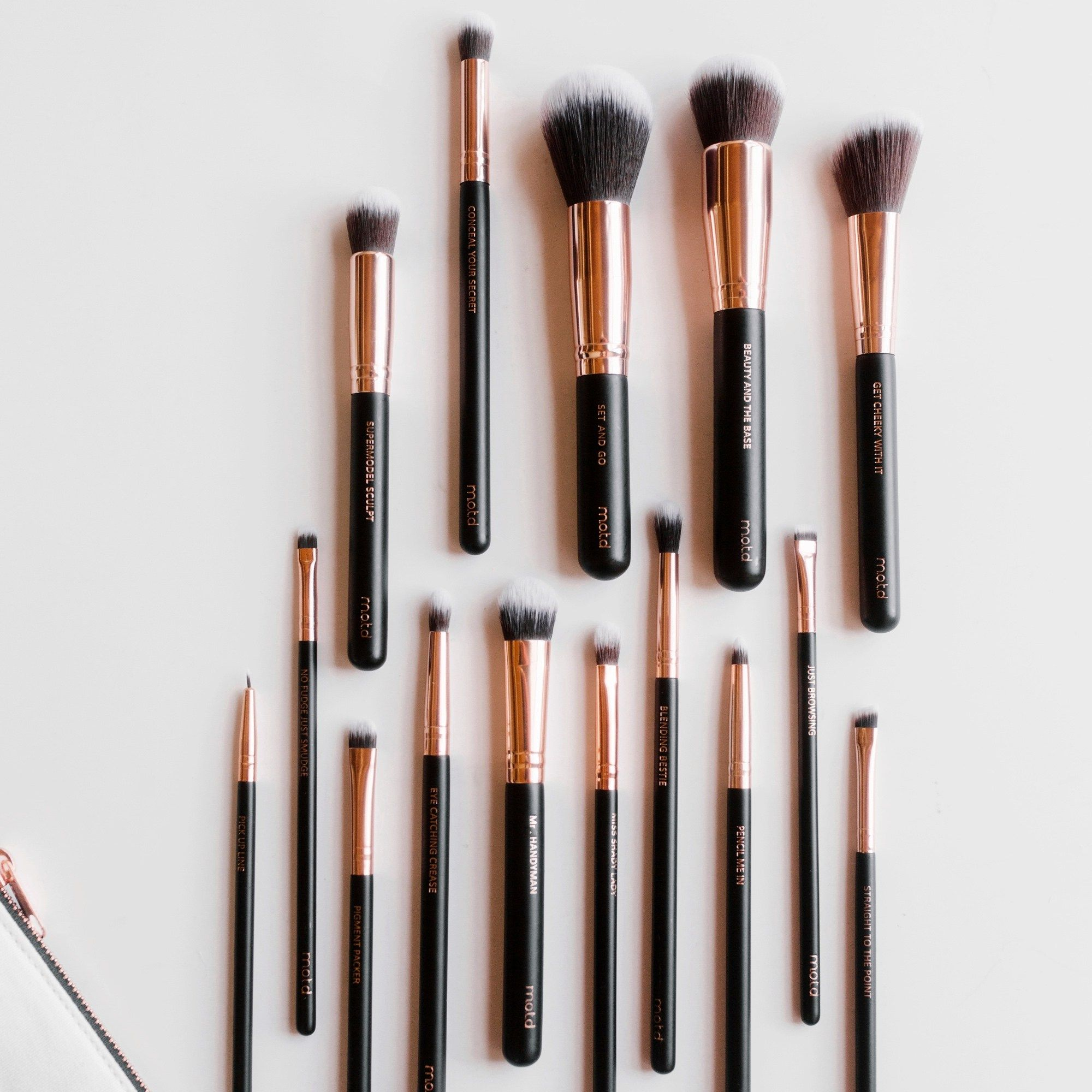 15piece vegan face and eye makeup brush set Makeup