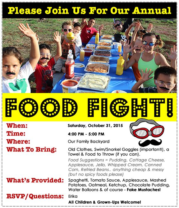 Here S Food Fight Ideas From Our Annual Food Fight Food Fight