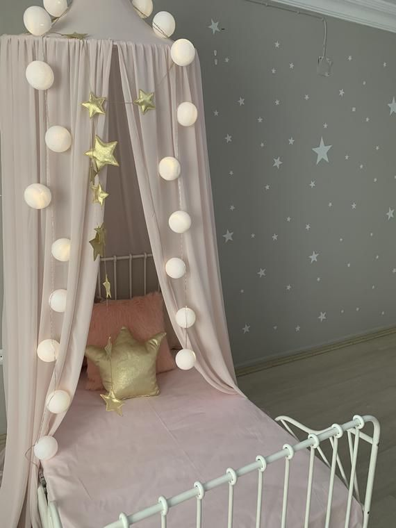 Pink Crepe Canopy, Pink Tent, Hanging Tent, Reading Nook Tent, Bed Canopy, Crib Canopy, Princess  baldachin, Chiffion baldachin,#baldachin #bed #canopy #chiffion #crepe #crib #hanging #nook #pink #princess #reading #tent