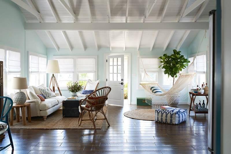 Hammock in a living room interiors pinterest Hamac chambre