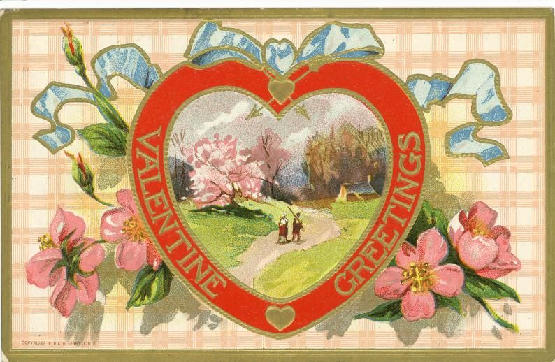 Free Victorian Valentine Cards Hearts and Flowers – Vintage Victorian Valentine Cards