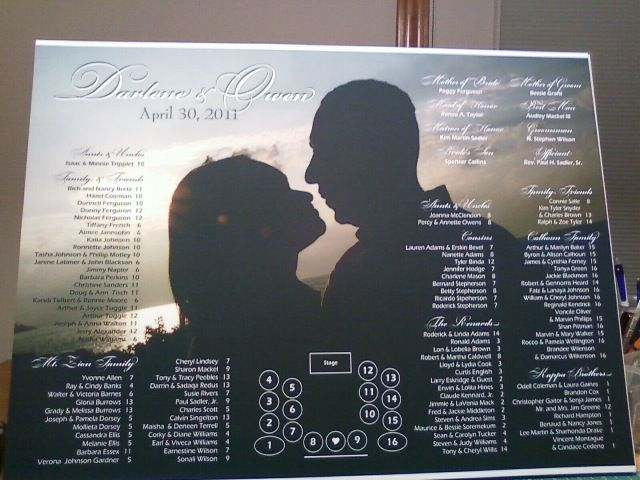 seating chart used an engagement pic and placed it in indesign then simply place text table seating chartseating chart weddingpicture