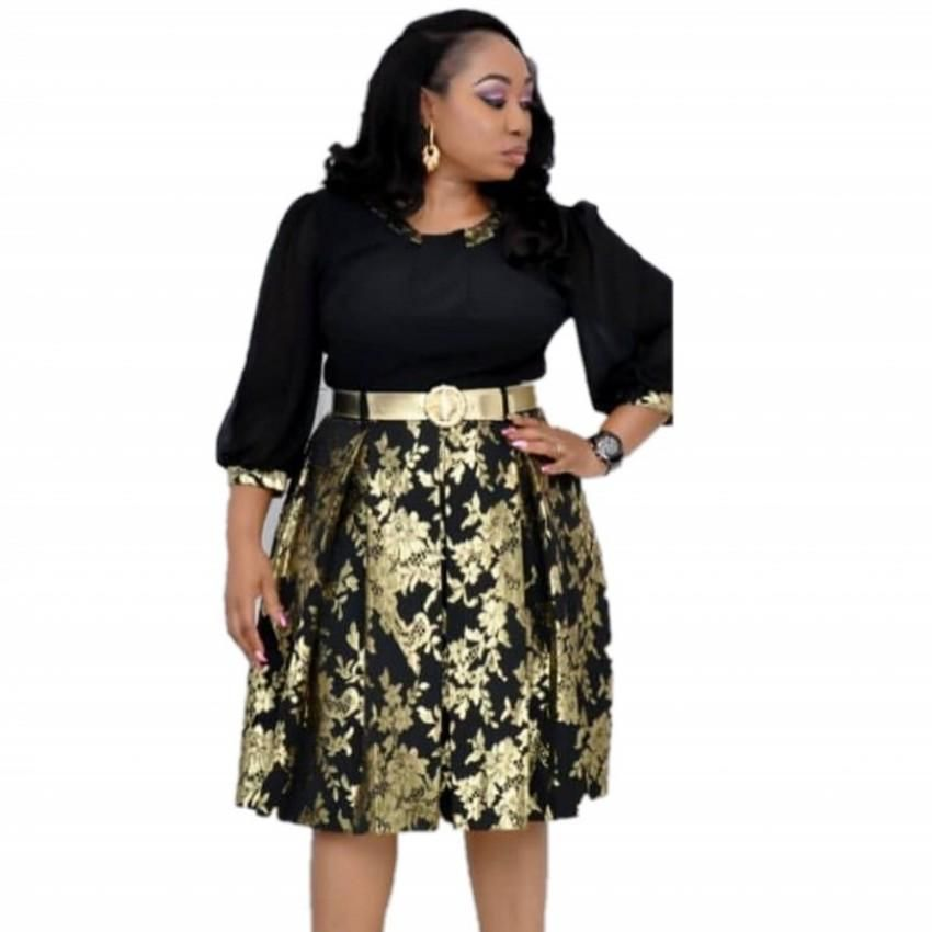 African Dresses For Women African Print Midi Summer autumn Dress Dashiki