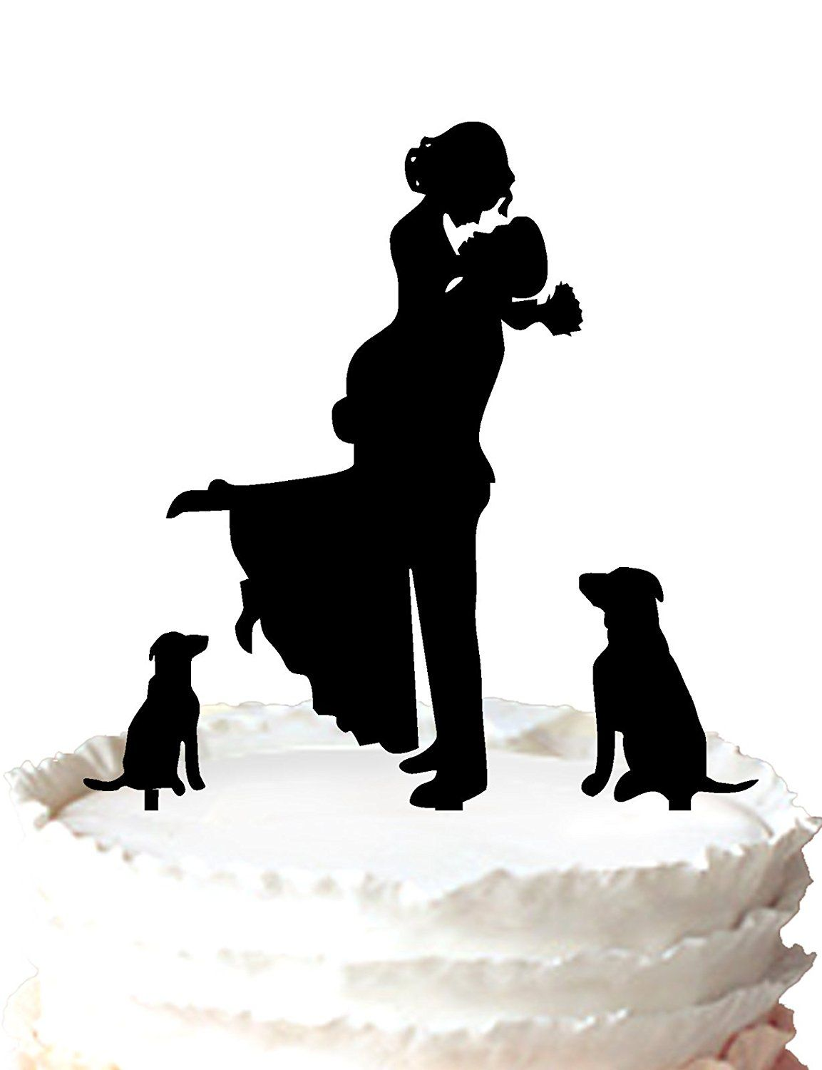 Buythrow unique wedding cake topper bride and groom silhouette with