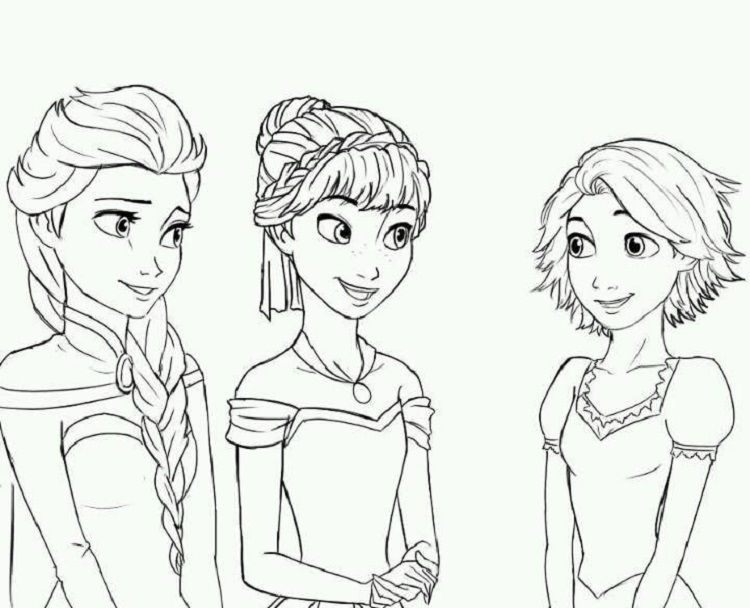 Rapunzel In Frozen Coloring Pages Frozen Coloring Frozen Coloring Pages Tangled Coloring Pages