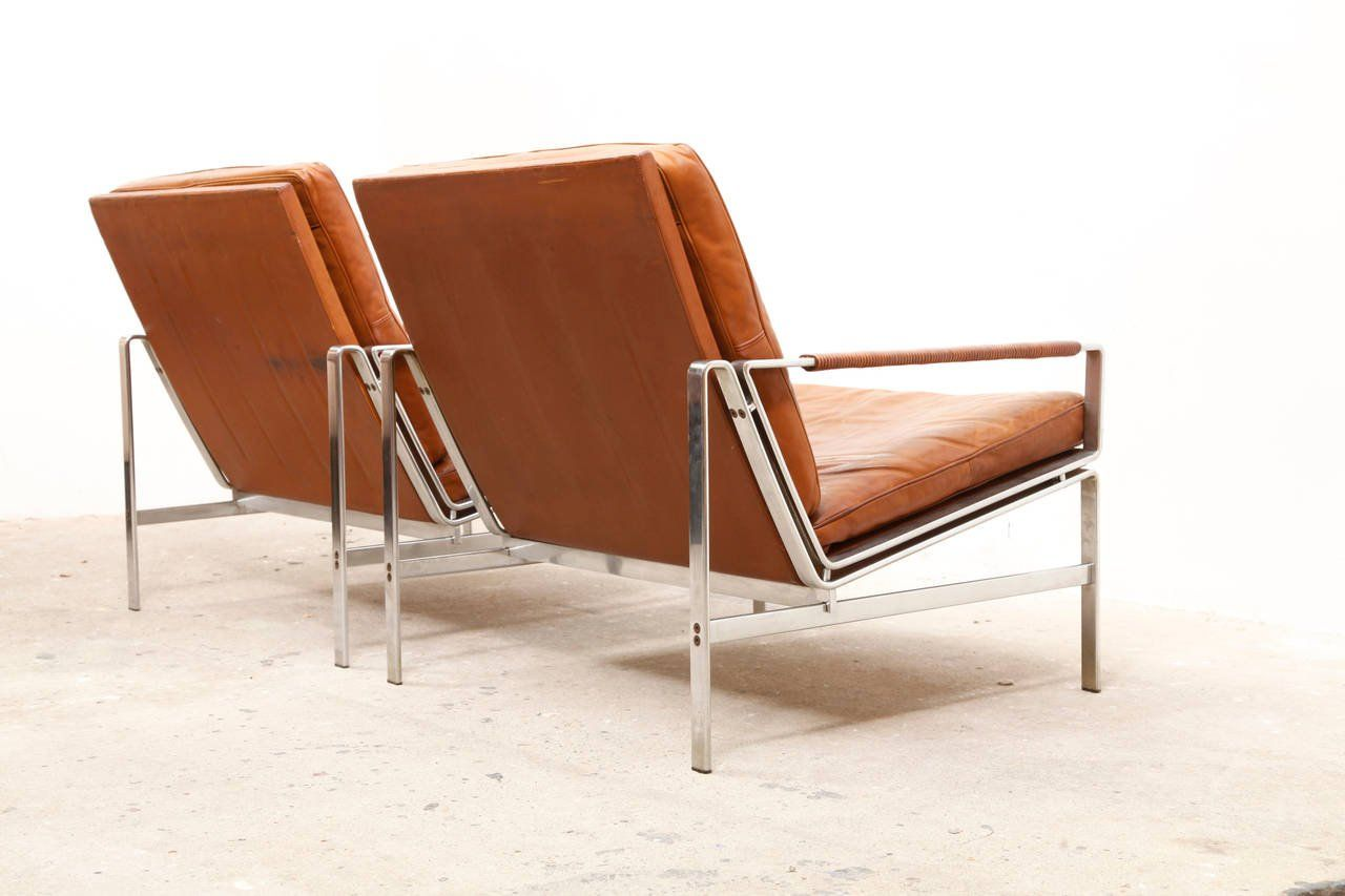 0208890f8e84 Lounge Armchairs Modell FK 6720 by Preben Fabricius and Jørgen Kastholm at  1stdibs