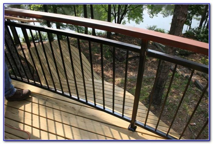 Mid Century Modern Deck Railings Decks Home Decorating Ideas