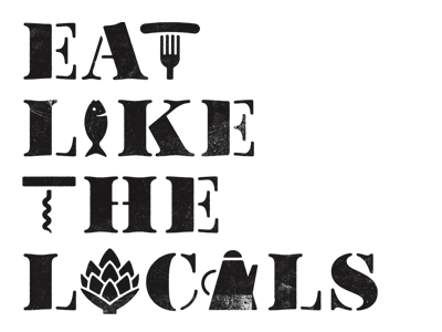 Eat Like the Locals typography by Simon Walker