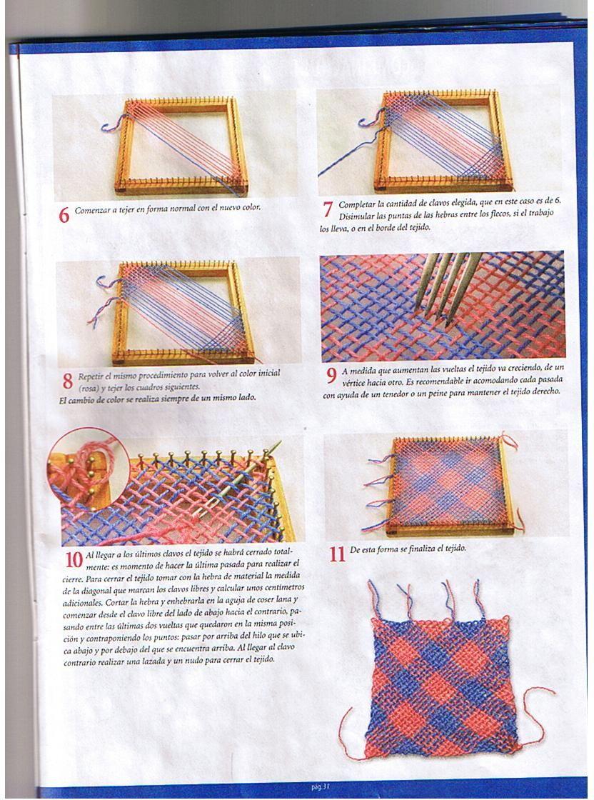 puntos-bastidor-cuadrado-5 | Telar | Pinterest | Puntos, Telares ...