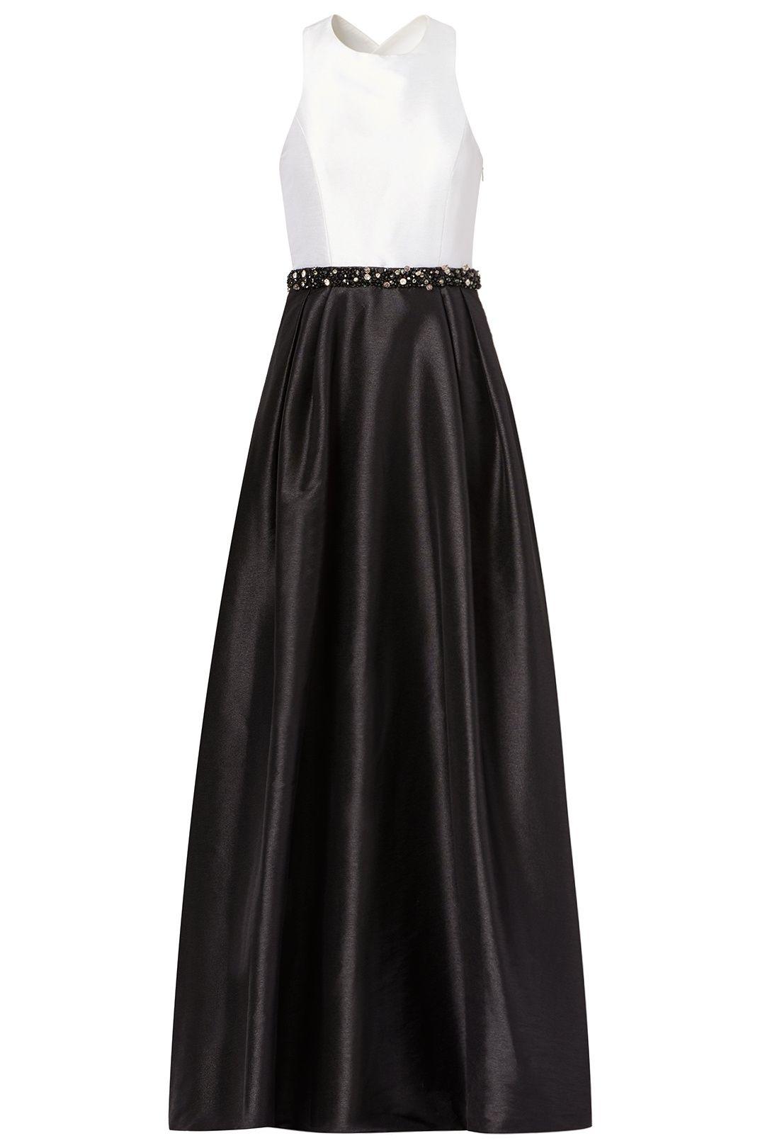 Jadore Contrast Gown | Monique lhuillier, Gowns and Black tie ...