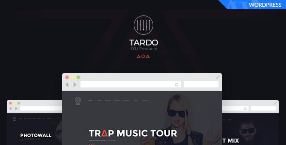 Tardo Dj Producer Band Musician Wordpress Theme Build With Bootstrap Framework Unique Design Using Html5 Amp Css3 Wordpr Dj Music Tours Wordpress Theme