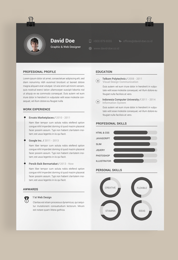 Resume Designer 30 outstanding resume designs you wish you thought of 1000 Images About Resume Designs On Pinterest Infographic Resume Creative Resume And Cv Design