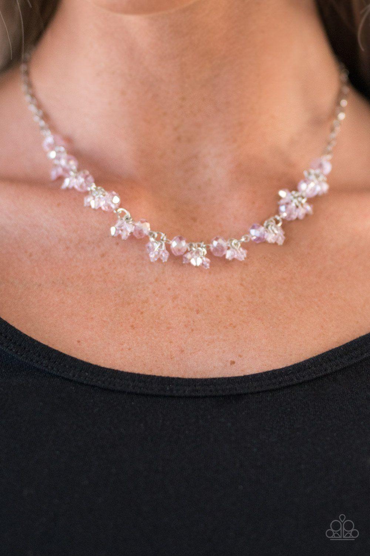 Leading starlight pink necklace and bracelet set paparazzi
