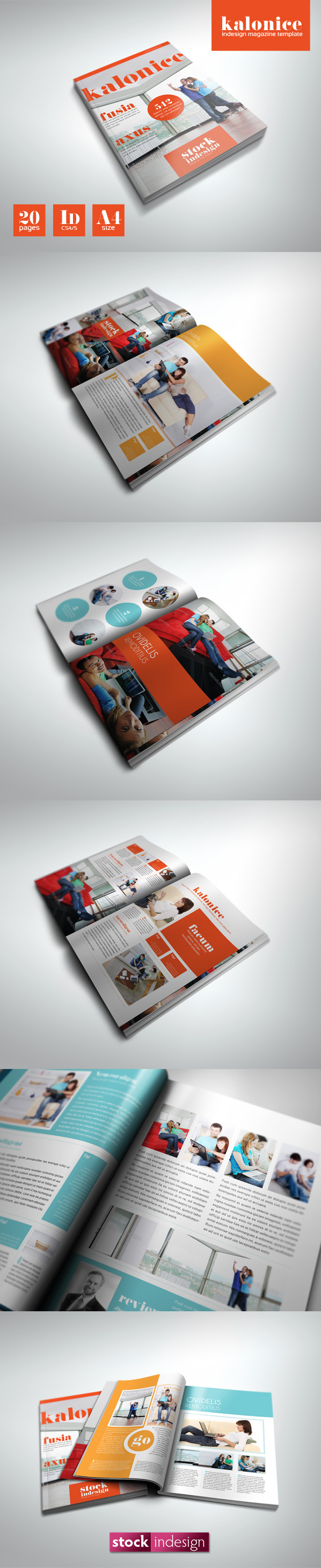InDesign PRO Magazine Template: Kalonice | Indesign | Pinterest