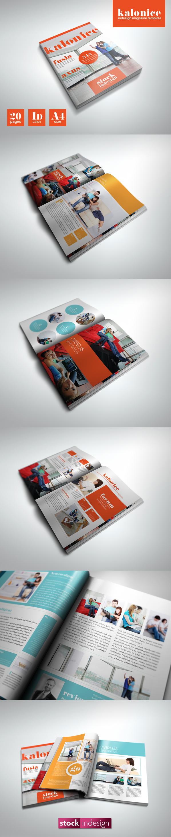 InDesign PRO Magazine Template: Kalonice   Indesign   Pinterest
