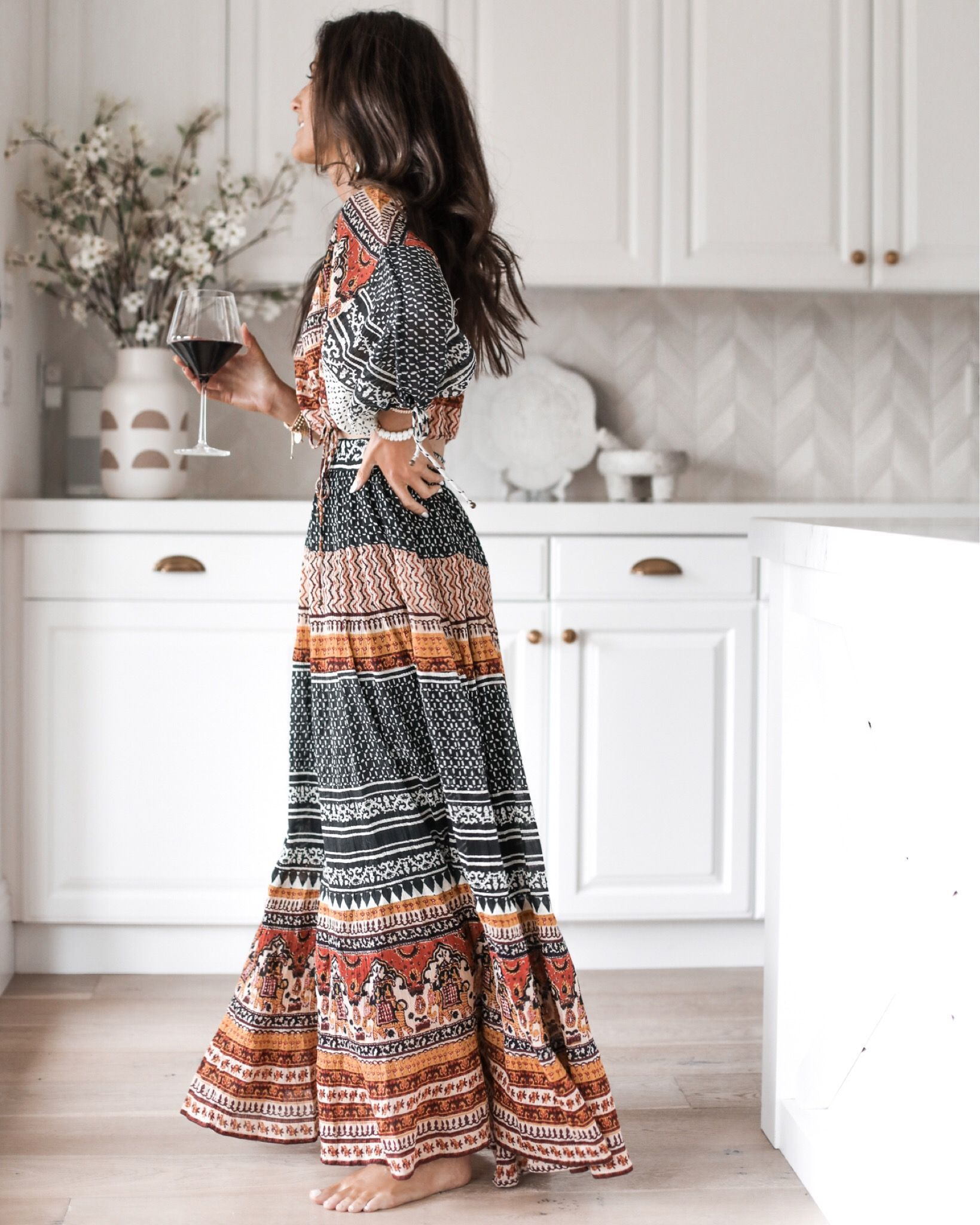 2 Piece Set Style Boho Chic Outfits Spring Boho Summer Dresses Spring Maxi Skirt Outfit [ 2048 x 1639 Pixel ]