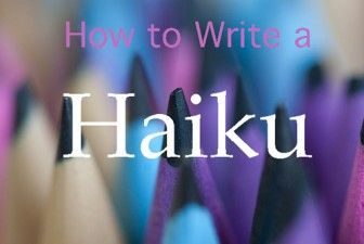 haiku how to write a haiku