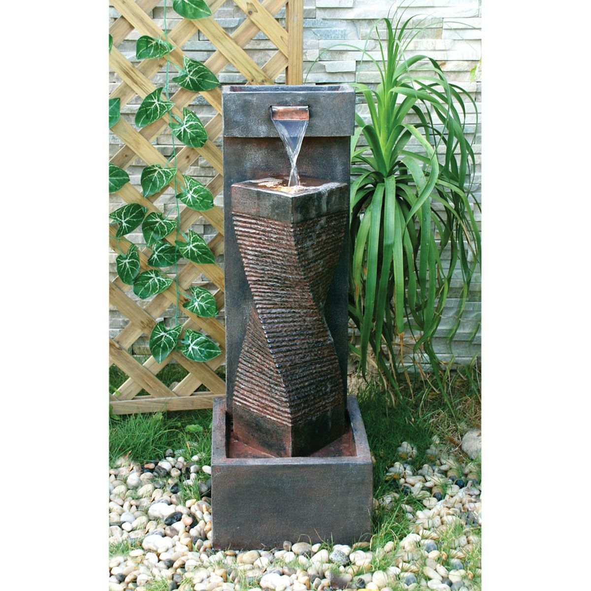 Spiral Outdoor Fountain Outdoor Fountain Fountains Outdoor