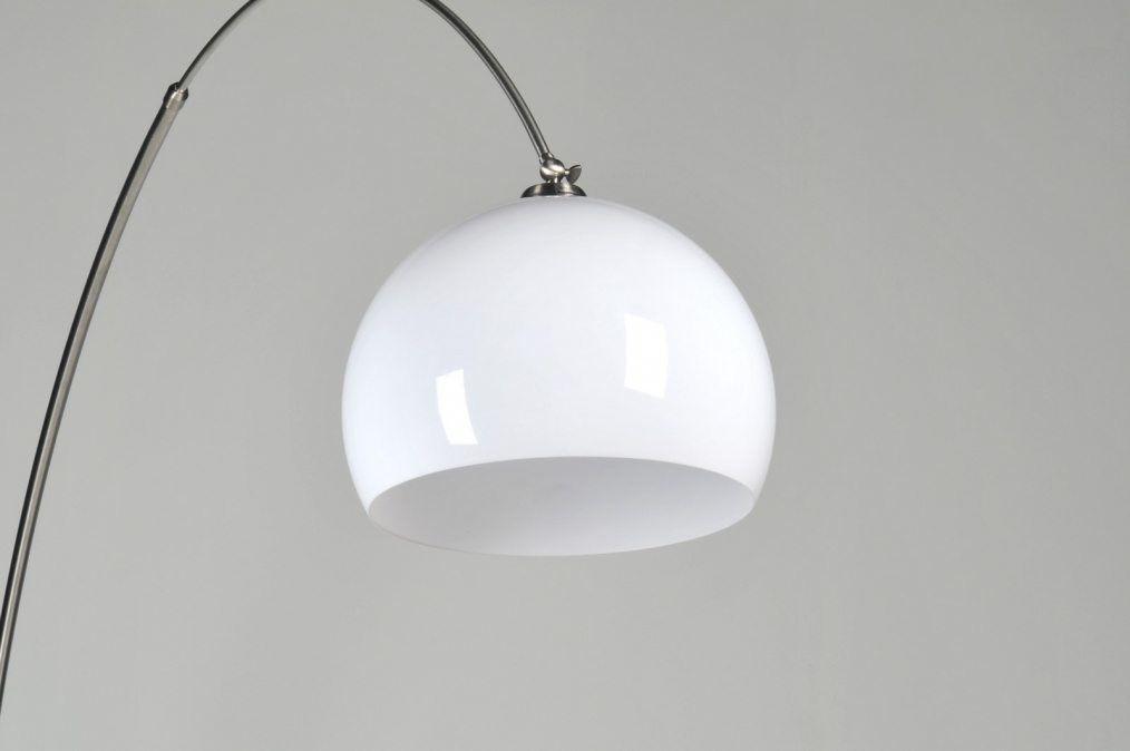 Moderne Stehlampe E27 silber Stahl Vintage Wohnzimmer