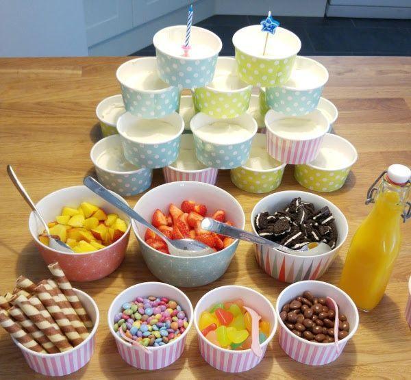 Photo of Joghurt Bar für Kindergeburtstag mit Cheesecake-Creme Rezept