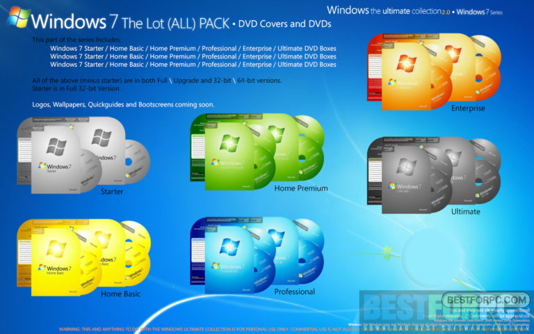Windows 7 Latest Version 64/32Bit all in One Free