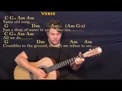 6 Dust In The Wind Kansas Strum Guitar Cover Lesson With Chords