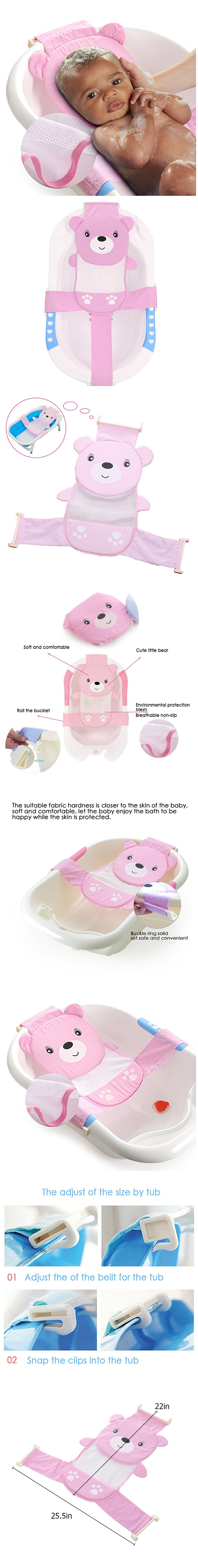 Sealive Adjustable Baby Bath Seat Support Net Bathtub Sling Shower ...
