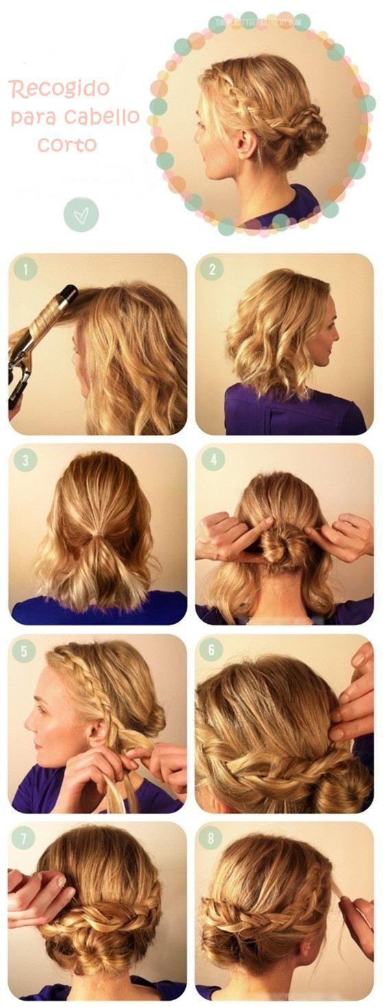 Peinados con vestido strapless corto