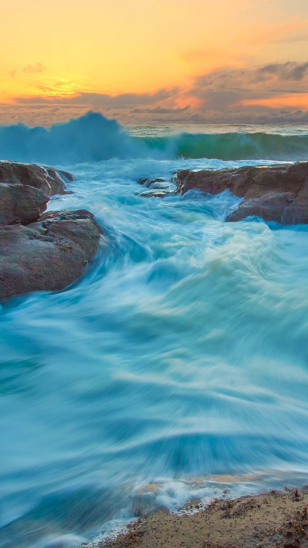 Turquoise Water Waves #Iphone #6 #Wallpaper
