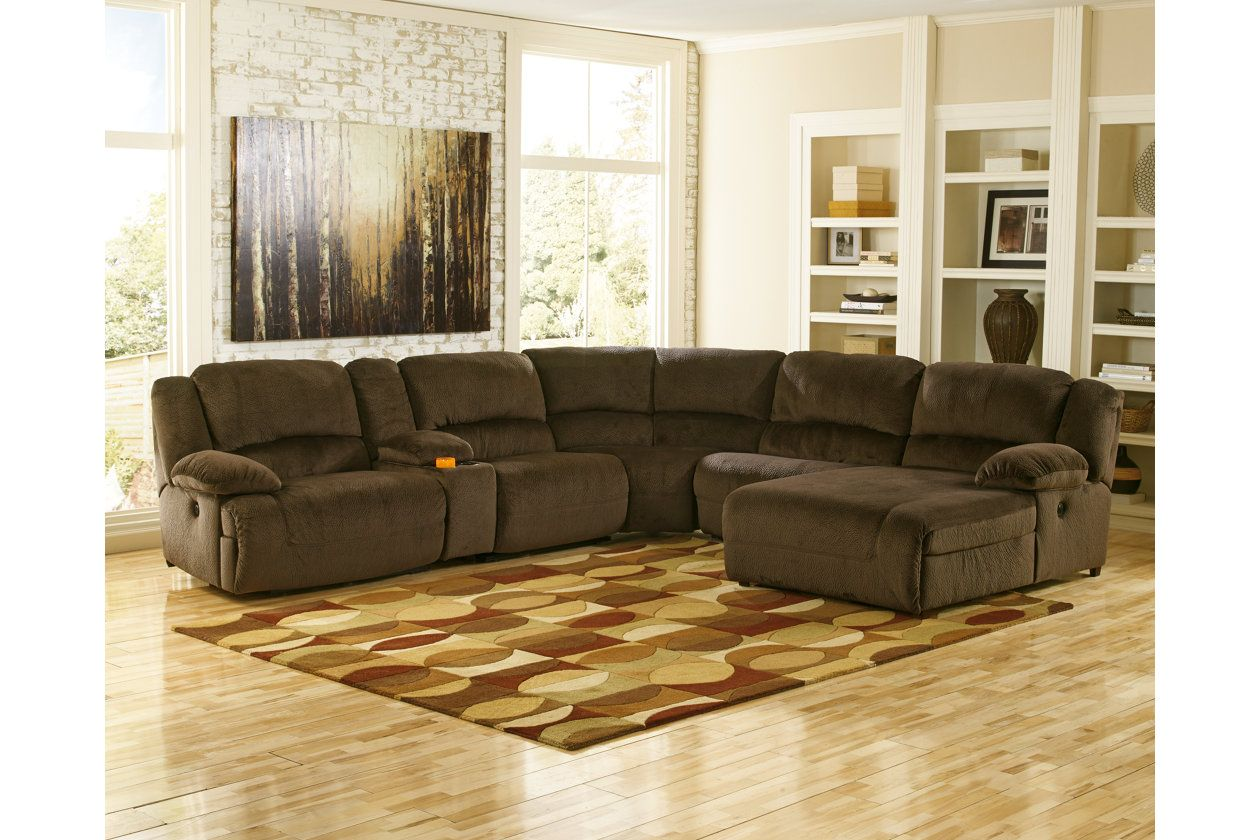Toletta 6 Piece Reclining Sectional With Chaise And Power