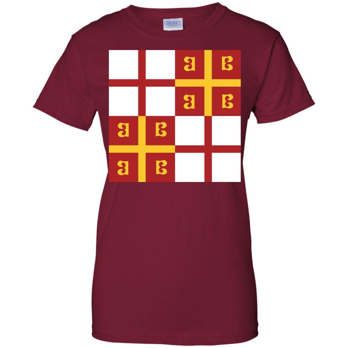 Byzantine flags Ladies Custom 100% Cotton T-Shirt