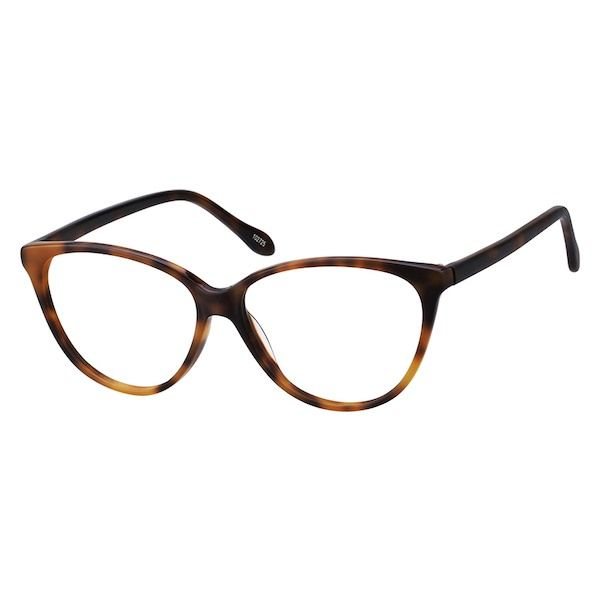 5ca12130cde8 Zenni Womens Cat-Eye Prescription Eyeglasses Tortoiseshell Plastic 102725