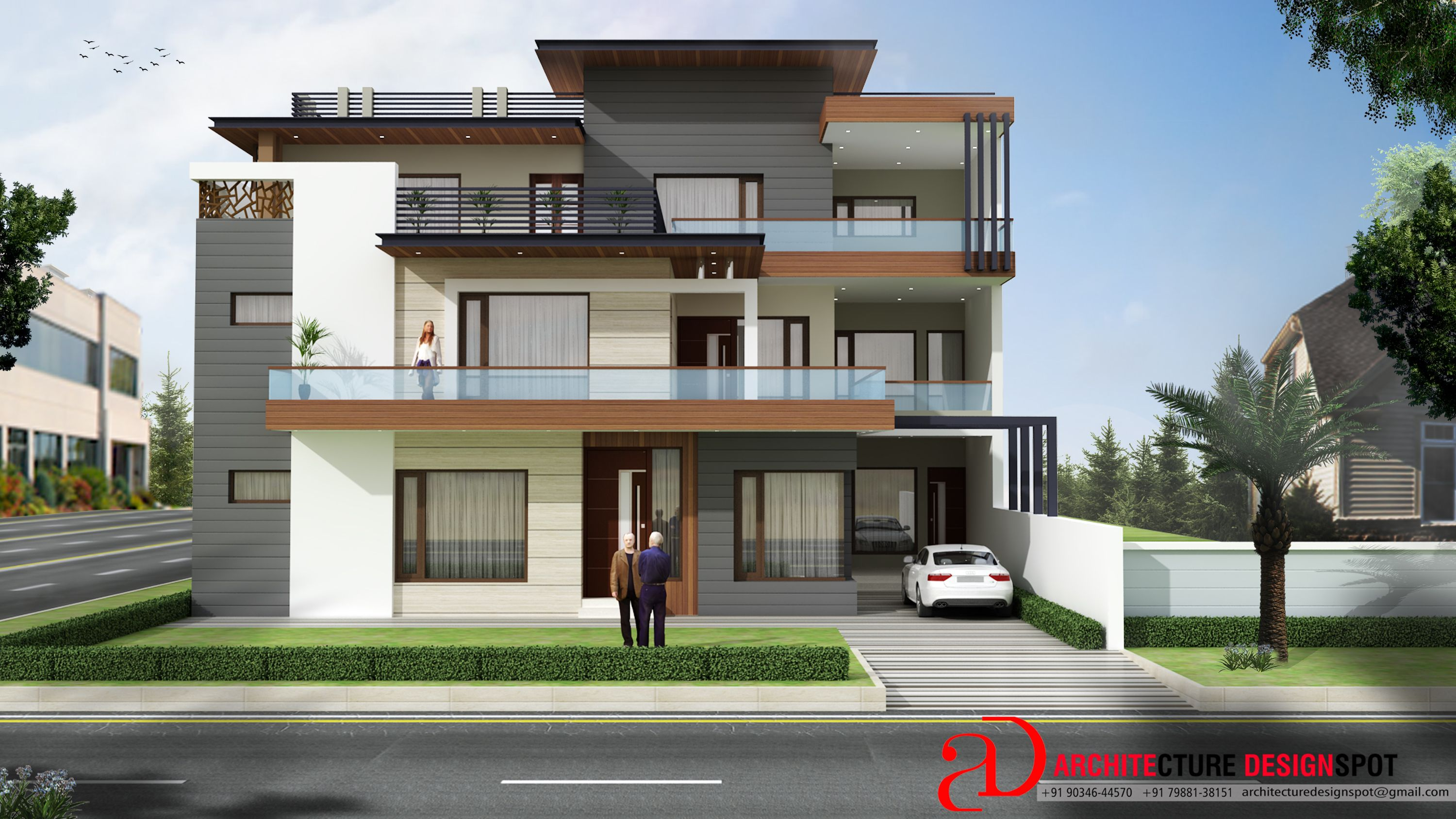 Modern House Exterior View Of Residential Building At S A S Nagar Mohali Chandigarh Architectu Small House Design Architect House House Designs Exterior