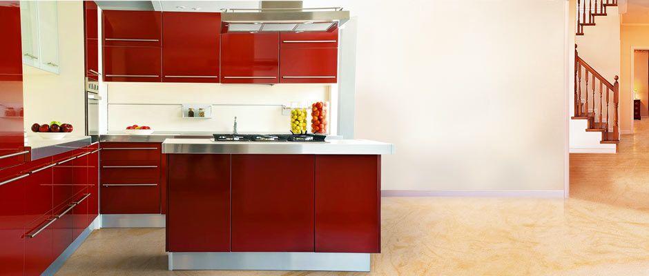 #modern #modular #kitchen In #red