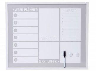 Verwonderlijk weekplanner+memobord+(55+x+45) (met afbeeldingen) | Memoborden UZ-24