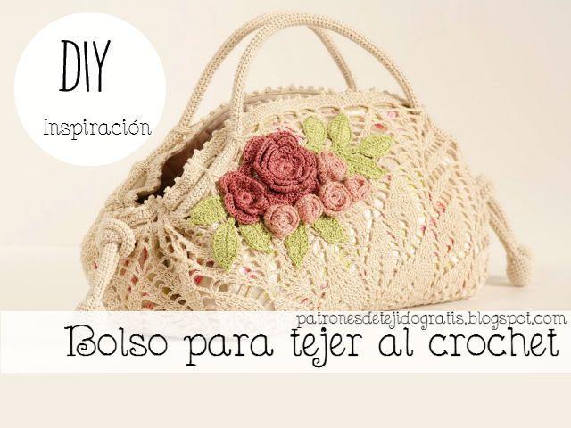 Bolso para tejer al crochet con una carpeta circular / DIY ...