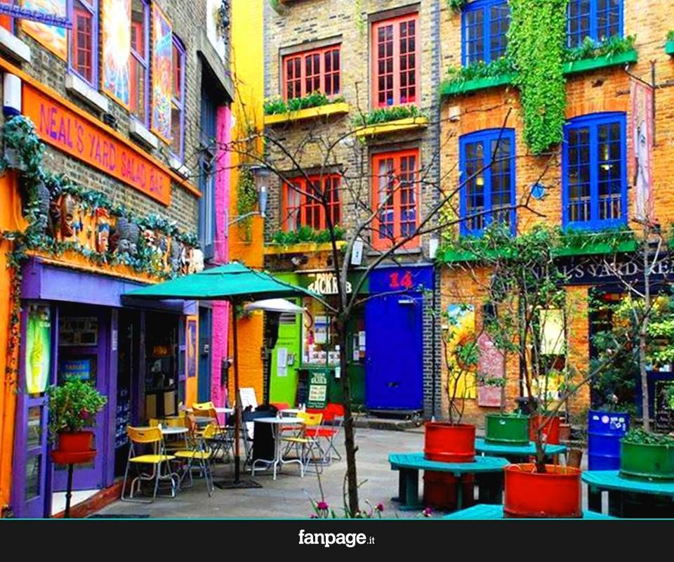 An exploding color square in Covent Garden, London.
